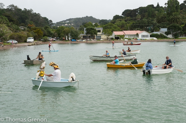 Getting ready to start the Russell Boating club paddle race.