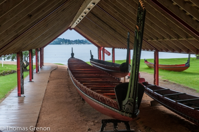 The world's largest ceremonial war canoe.